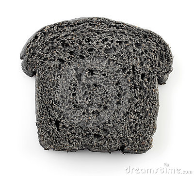 Black charcoal bread