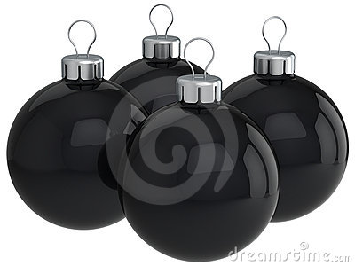 Black christmas balls (Hi-Res)