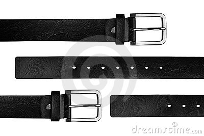 Black chrome belt