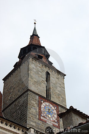 Free Black Church Tower, Brasov, Romania Stock Images - 8380644