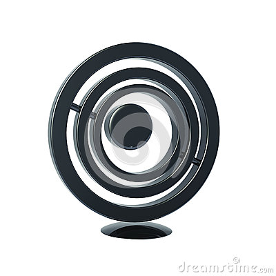 Black Circle Icon 3d Model Royalty Free Stock Photos ...