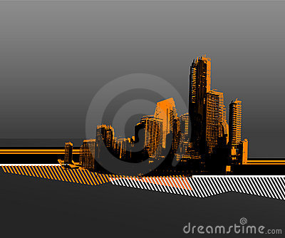 Black city. vector art