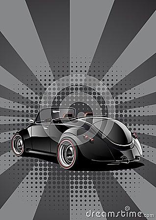Black classic convertible