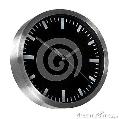 Black classic office clock
