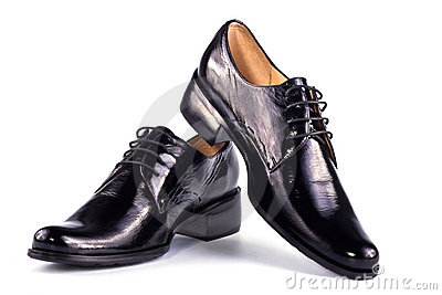 Black classical shoes