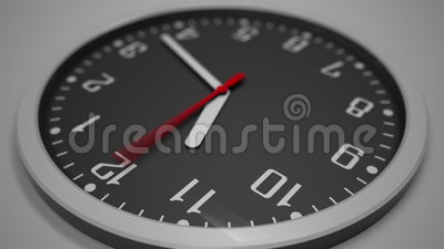 Black clock dial time lapse. 4K footage. Awaiting concept. Clip stock footage
