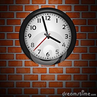 Black Clocks on brick wall