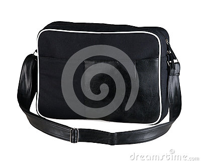 Black cloth laptop bag