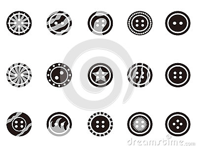 Black Clothing Button icons
