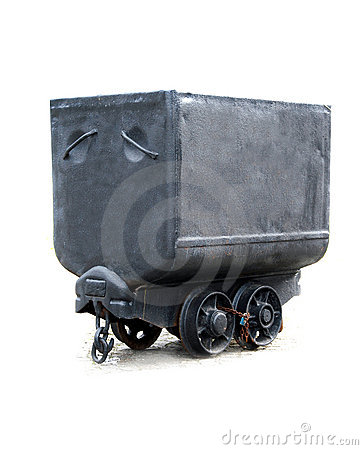 Free Black Coal Waggon Stock Images - 8653204