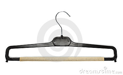 Black coat hanger