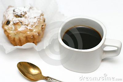 Black coffee and cakes