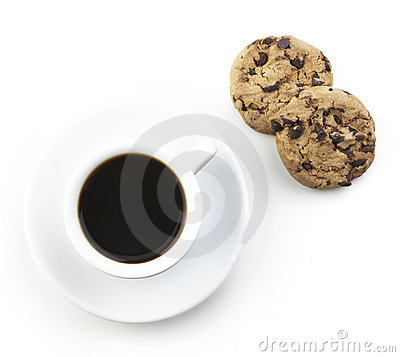 Black Coffee With Cookie