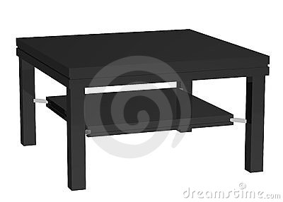 Black coffee table