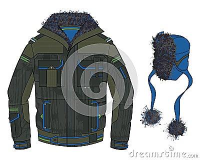 Black cold jacket