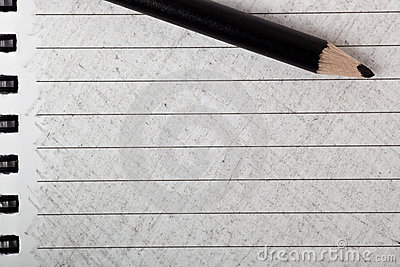 Black color pencil with coloring
