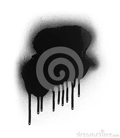Free Black Color Spray Paint Or Graffiti Design Element On A White Background Stock Photography - 67357712