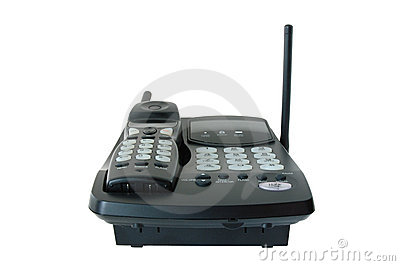 Black coloured  radio-telephone.