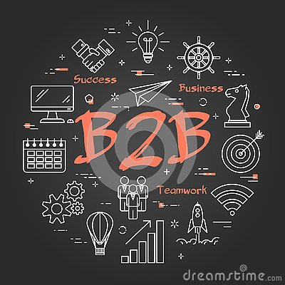 Free Black Concept Of B2B Stock Photography - 133562862