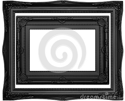 black isolated frames stock photo image 47289909