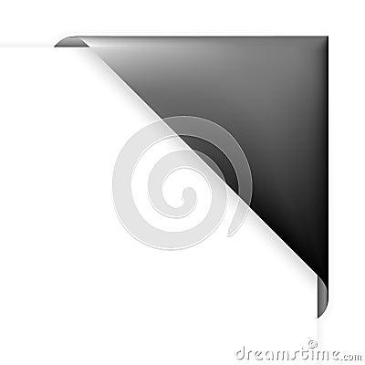 Black corner holder