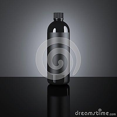 Free Black Cosmetic Blank Bottle. 3d Rendering Stock Photos - 83835553