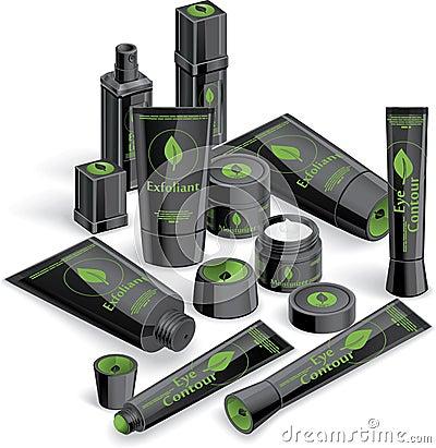 Black Cosmetics Array