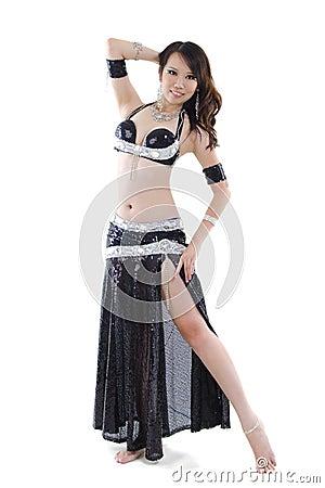 Black costume Belly Dancer
