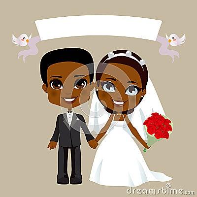 Black Couple Wedding