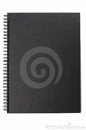 Black cover of notebook