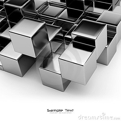 Free Black Cubes Abstract Background Stock Photo - 23620040
