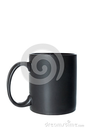 Free Black Cup Or Mug For Coffee, Tea Or Any Hot Beverage Royalty Free Stock Photography - 48606257