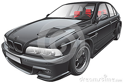 Black custom car