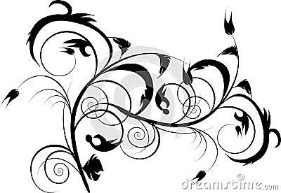 Black decorative design