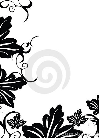 Black decorative leaf