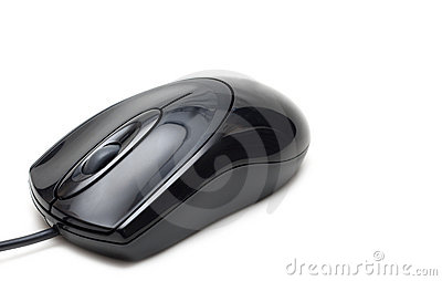 Black desig computer mouse