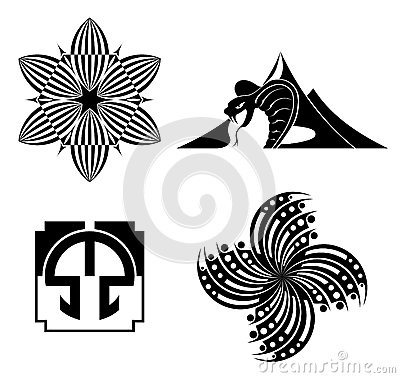 Black design elements - vector graphic
