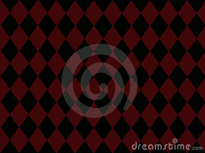 Black Diamonds on Brick Red Background