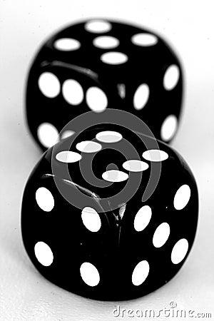 Black dice close up