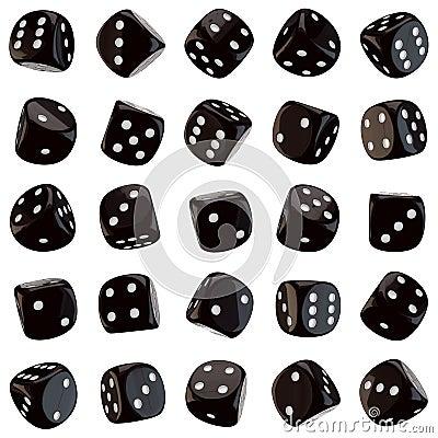 Black dice icons