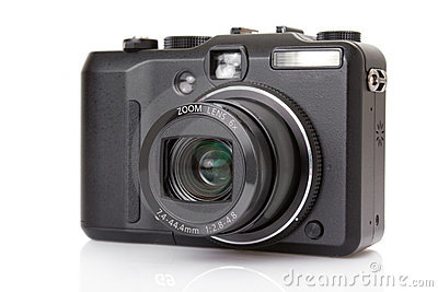 Black digital compact camera