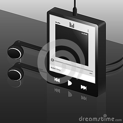 Black digital music player