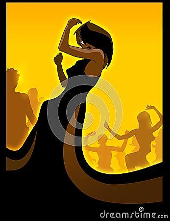 Free Black Diva Dancing Stock Images - 327984