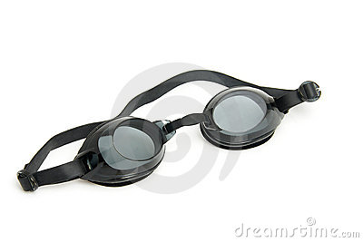 Black dive goggles