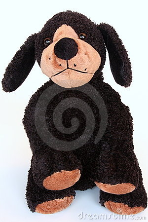 Black dog doll