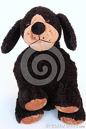 Black dog doll