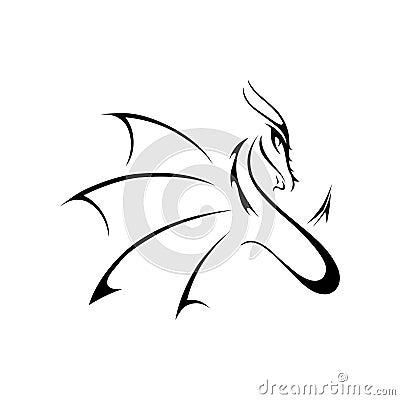 Free Black Dragon Logo Icon Stock Photos - 129066273