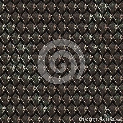Free Black Dragon Skin Scales Stock Photo - 3197040