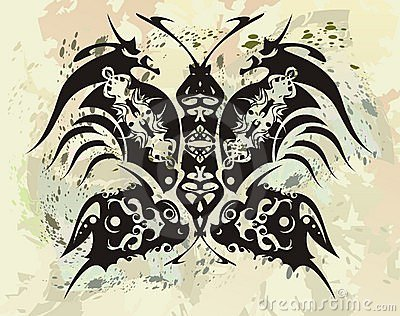 Black dragons butterfly