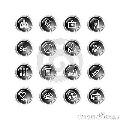 Black drop medicine icons